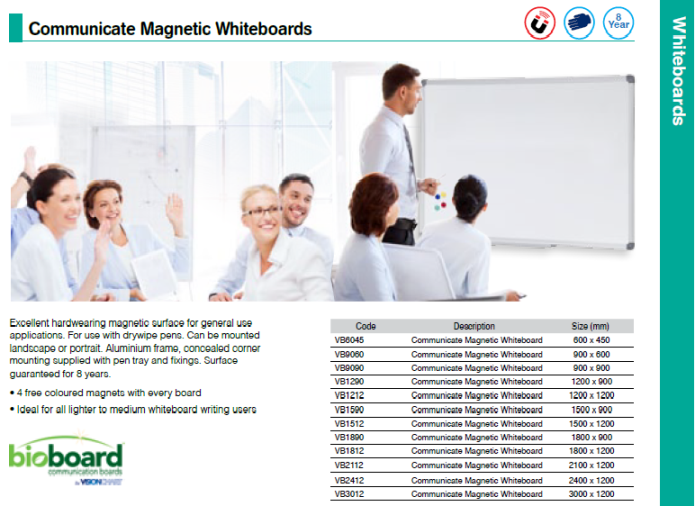 Communicate Magnetic Whiteboards - Scroll down to see more