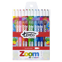 Crayons Texta Zoom Wind Up Texta 0004606 - wallet 12