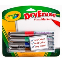 Marker Whiteboard Crayola pack 4 9888626 Sydney only or Post only