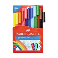 Connector Pens Assorted Colours 10 Faber 11150A - wallet 10
