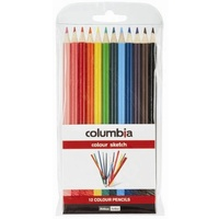 Pencil Columbia Coloursketch Full Length - wallet 12 ROUND pencils colouring in