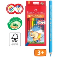 Coloured Pencil Faber Jumbo with free Sharpener 16111610 - pack 10
