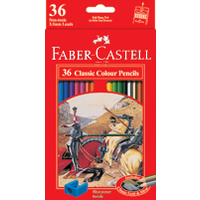 Pencils Coloured Pencils Faber Classic Full length 17cm 16115856 - pack 36