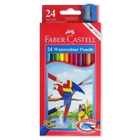 Coloured Pencils Watercolours Faber Red range 114454 - pack 24