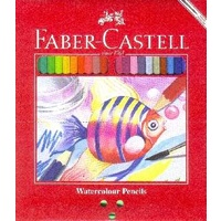 Pencils Coloured Watercolours Faber full length 17cm 114454 - pack 48