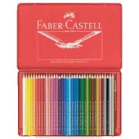 Pencils Coloured Pencils Faber Water Colour full length 17cm 16115937 - tin 36