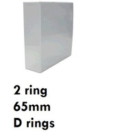 Ringbinder A4 2/65/d ring Insert Clearview white Marbig 5426508 White - each