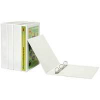 Binder Clearview Insertable A4 3 Ring D 19mm Marbig 5431908 White 3/26/d