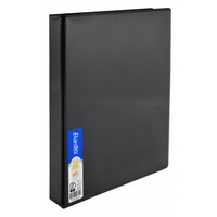 RingBinder 4 x 19mm D rings  Black insert Cover A4 Bantex 2735 410 4/19/D 19mm ring clearview