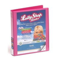 Binder Clearview Insertable A4 2 Ring D 25mm Bantex 2731 273 Lollyshop Pink