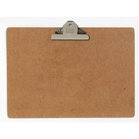 Clipboard A3 Masonite Landscape Large Clip - old style clips