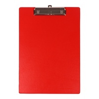Clipboard A4 Bantex 4205 09 Red Strong Pvc Construction Spring Clip Mechanism