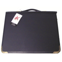 600A4 Zippered A4 PVC Artists Portfolio with rings and handle. Colby - each