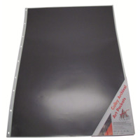 620A1P A1 PP portfolio pocket with black insert in each pocket. ACID FREE Colby - pack 10