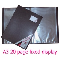 Display Book A3 20 Pocket Fixed 259A3 black