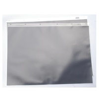 600A2P A2 PVC portfolio pocket with black insert paper in each pocket. Colby - pack 10