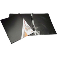 257A3 A3 refillable display book with black inserts in each page. Black Colby - each