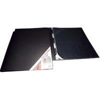 257A2 A2 refillable display book with black inserts in each page. Colby - each