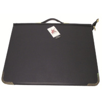 600A3 Zippered A3 PVC Artists Portfolio with rings and handle. Black Colby - each