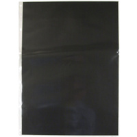 600A3P A3 PVC portfolio pocket with black insert paper in each pocket. Colby - pack 10