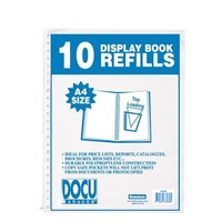 Display Book Refill A4 Beautone 36080 Pack 10 FITS ALL multihole REFILLABLE DISPLAY  books