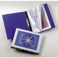 Display Book A4 20 pocket Fixed fits ringbinder Marbig - each