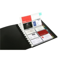 Business Card Book A4 Marbig 2021002 Kwik zip business card holder 100 pocket for 200 cards expand to 400 cards