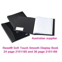 Display Book Rexel 24 Page Soft Touch Smooth 2101185 Black - each