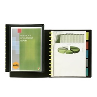 Display Book A4 Marbig 10 Pocket Kwik Zip Insert Cover 2020102 Black Refillable