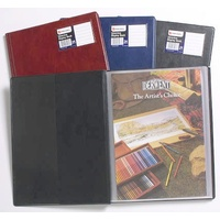 Display Book PVC A4 Marbig 18 Fixed page Black R10010BK - each