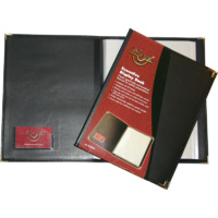 Waterville Display Book 20 page Black W92A4 Executive Display Books
