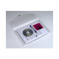 Document wallet Cd or disk holder F/cap PP clear Marbig 2015512 - each