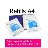 Display Book A4 - Refills Economy multihole A4 Marbig 2008000 - pack 100