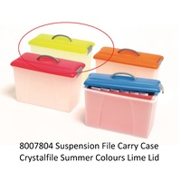 Carry Case Crystalfile Summer Colours Lime Lid/Clear Base 8007804 18 litre