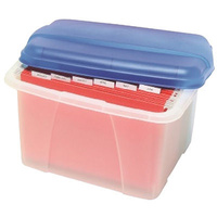 Porta Box Crystalfile Summer Colours Blue 8008401 Store and transport suspension files with ease.