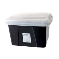 Porta Box Crystalfile Enviro Black Clear Lid 8008410 no files