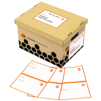 Archive Labels for Archive Box A5 Marbig 20 Labels LB10010 - pack 20 Laser/inkjet/copier printable - A4 sheets feed automatically.