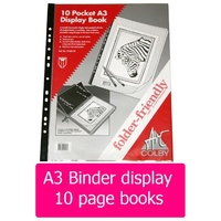 Display Book A3 10 pocket Colby 215a3 - each