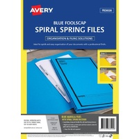 Spiral Spring Action File Foolscap [a] Blue printed Black Avery 88545 box 5