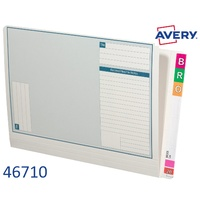 Avery 46710 White Lateral Notes Standard, 355 x 235 mm - box 100 shelf lateral notes files