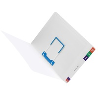 Avery 46711 Lateral File Notes Fitted With Tubeclip - box 100 shelf lateral notes files Foolscap 355x235 mm Capacity: 35 mm expansion
