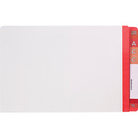 Avery 42431 Red F/cap with reinforced Mylar Tabs 35mm box 100