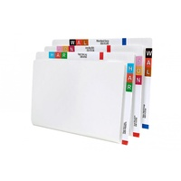 Twin tab shelf lateral file Avery 46555 box 100 Dual purpose file with side tab as well as top tab