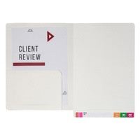 Avery 46713 White Lateral Notes Files with Left Hand Pocket, 355x235mm box 20