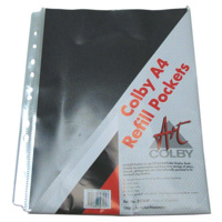 257A4P Refills for 257A4 refillable display book each with black inserts. Colby - pack 10