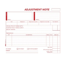 Carbon Book Credit Adjustment Book Impact Carbonless A5 Duplicate CS620 - each
