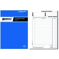 Carbon Book Purchase Order Book A4 Duplicate Impact CS490 - book