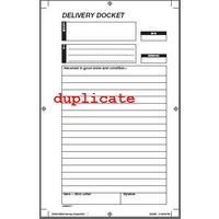 Book Delivery Docket Carbonless Impact 8 x 5 Duplicate SB324 - each