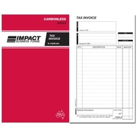 Book Invoice and Statement Book Carbonless Impact 8 x 5 Triplicate SB323 - per book