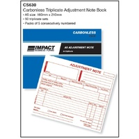Book Credit Note Book Impact Carbonless A5 Triplicate 50 SETS CS630 - each
